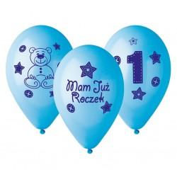 Balony Mam Już Roczek niebieskie 30cm 6szt