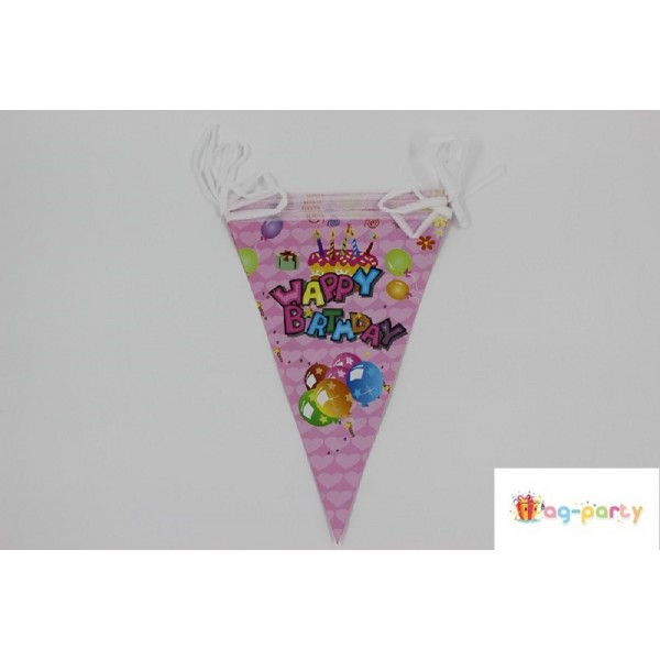 "BANNER URODZINOWY Z NAPISEM ""HAPPY BIRTHDAY"" 3METRY"