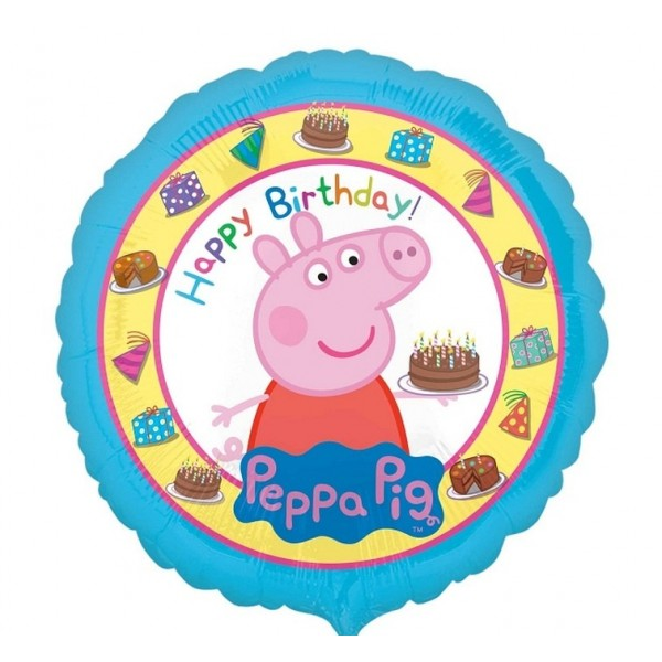Balon foliowy Świnka Peppa Happy Birthday 43cm