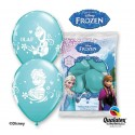 Balony pastelowe Kraina Lodu błękitne 12cali 30cm 6szt