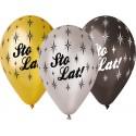 "Balony Premium ""Sto lat""  metaliczne 13cali 6szt"