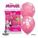 Balony pastelowe różowe Myszka Minnie 12cali 30cm 6szt
