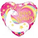 """Balon foliowy Jednorożec""""Happy Birthday """"46 cm"""