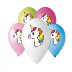Balony pastelowe Jednorożec 12 cali 30 cm 5 szt