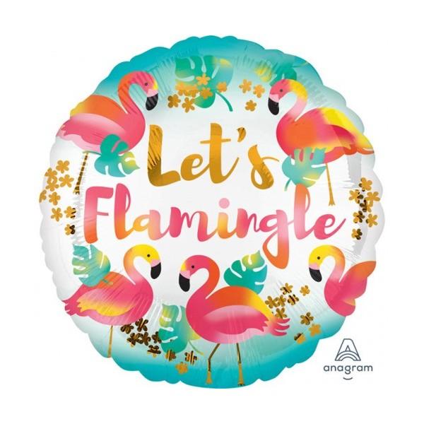 Balon foliowy Flamingi 18 cali, 43 cm