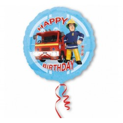 Balon foliowy Strażak Sam Happy Birthday 46cm