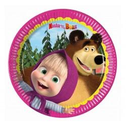 Talerzyki urodzinowe Masza i Niedźwiedź
