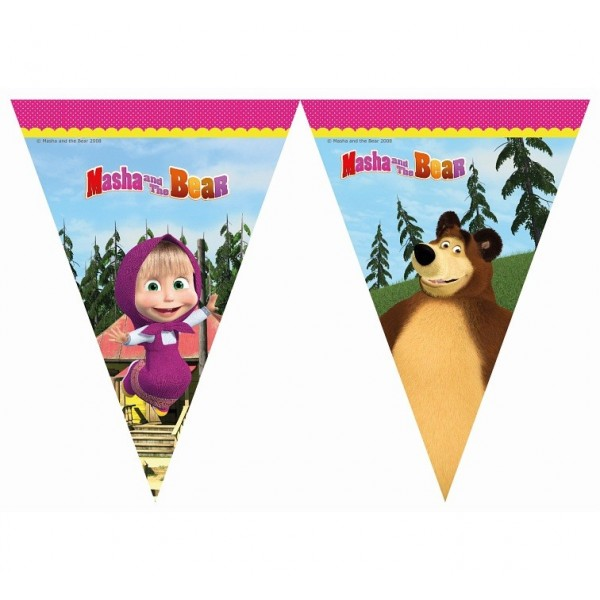 Baner flagi Masha i Niedźwiedź 2.3 m
