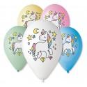Balony Jednorożec - Magiczna moc 12cali 5szt
