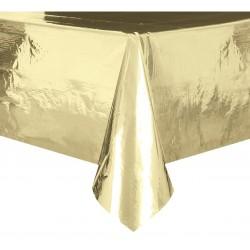 Obrus foliowy złoty metaliczny 137x274cm