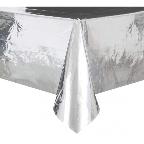 Obrus foliowy srebrny  metaliczny 1.37 x 2.74