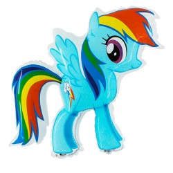 Balon foliowy My little Pony Rainbow Dash 70x90cm