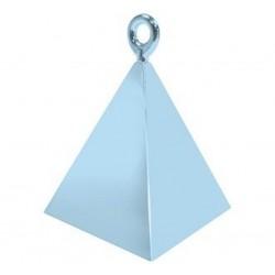 Ciężarek piramida jasnoniebieska do balonów na hel