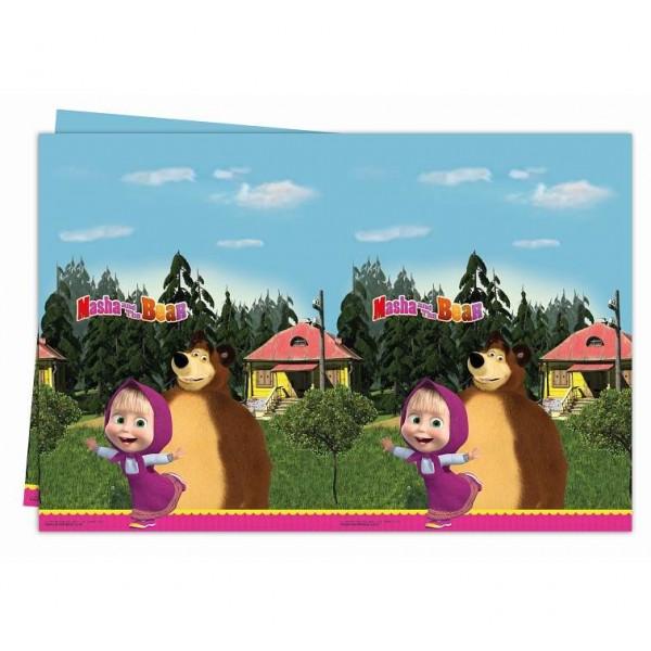 Obrus plastikowy Masha i Niedźwiedź 120x180 cm