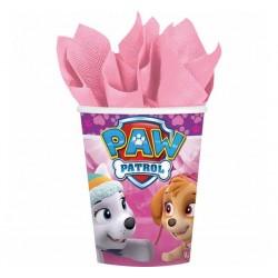 Kubeczki różowe Paw Patrol 260 ml 8 szt