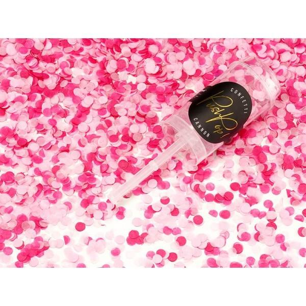 Konfetti push pop różowe