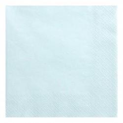 Serwetki jasnobłękitne trójwarstwowe 33x33 cm 20 szt