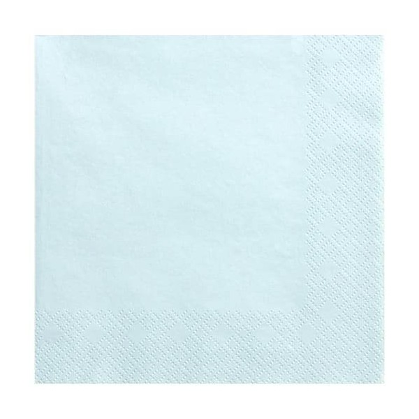 Serwetki trójwarstwowe jasnobłękitne  33x33 cm, 20 szt
