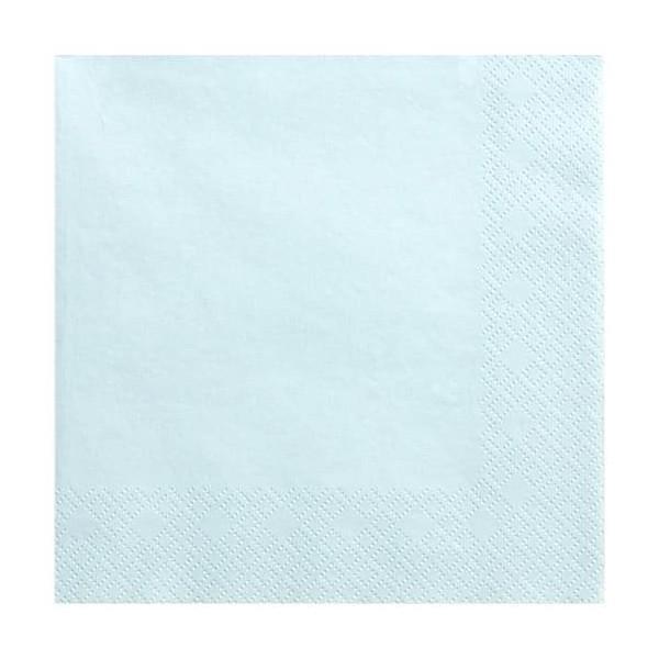 Serwetki trójwarstwowe jasnoniebieskie 33x33cm 20szt