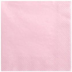 Serwetki trójwarstwowe różowe 33x33cm 20szt