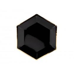 Talerzyki czarne 23 cm 6 szt