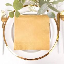 Serwetki złote metaliczne 40x40 cm 20 szt