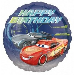 BALON FOLIOWY CARS-AUTA HAPPY BIRTHDAY 43CM