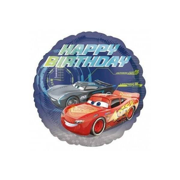 BALON FOLIOWY CARS-AUTA HAPPY BIRTHDAY 43 CM