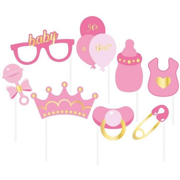 Rekwizyty do zdjęć Girl Party 8 elementów