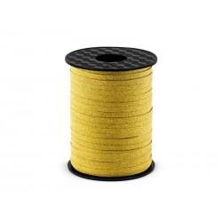 Wstążka złota brokatowa 0.5cmx225m