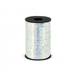 Wstążka srebrna holograficzna 0.5cmx225m