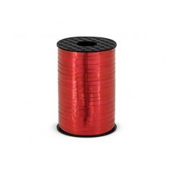 Wstążka czerwona błyszcząca 0.5cmx225m