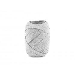 Wstążka srebrna brokatowa 0.5cmx10m