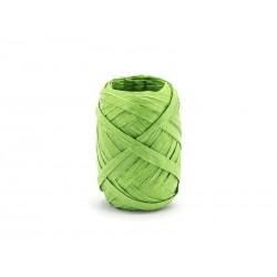 Wstążka rafia zielona 0.5cmx10m