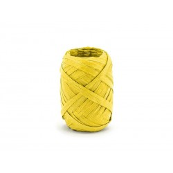 Wstążka rafia żółta 5 mm/10 m