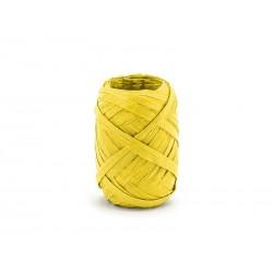 Wstążka rafia żółta 0.5cmx10m