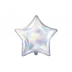 Balon foliowy gwiazdka opalizująca 48cm