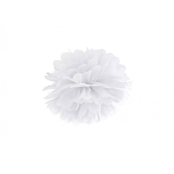 Pompon bibułowy 25 cm biały