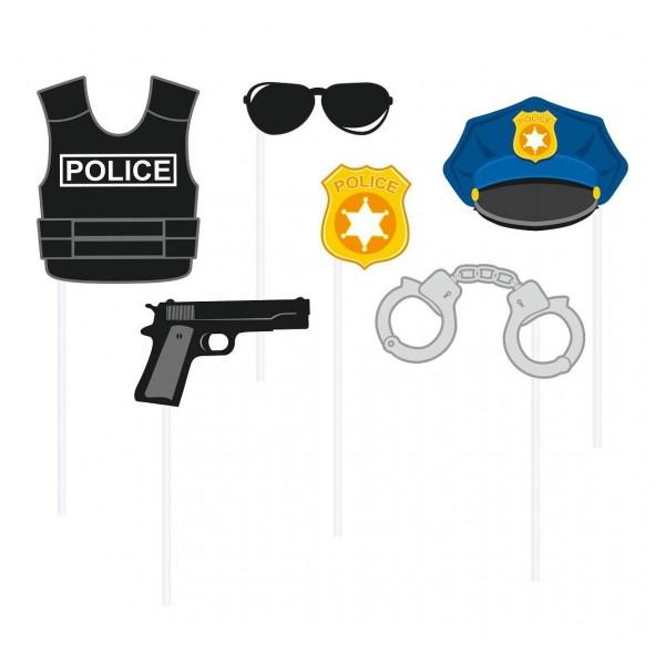 Rekwizyty do zdjęć Policja 6 szt