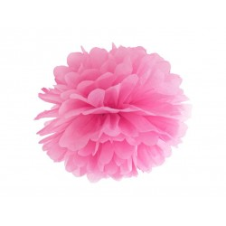 Pompon bibułowy 25 cm różowy