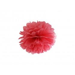 Pompon bibułowy 25 cm czerwony