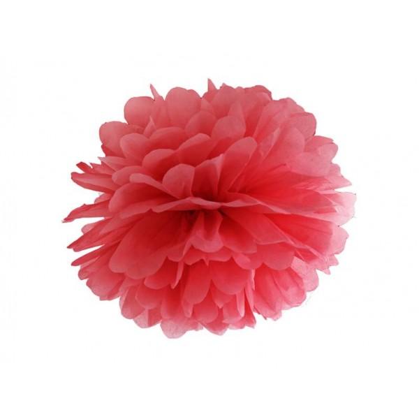 Pompon bibułowy 35 cm czerwony
