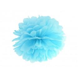 Pompon bibułowy 25 cm błękitny