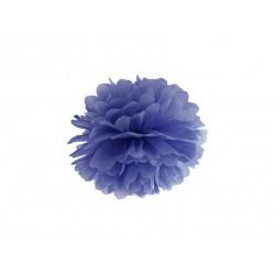 Pompon bibułowy 25 cm granatowy