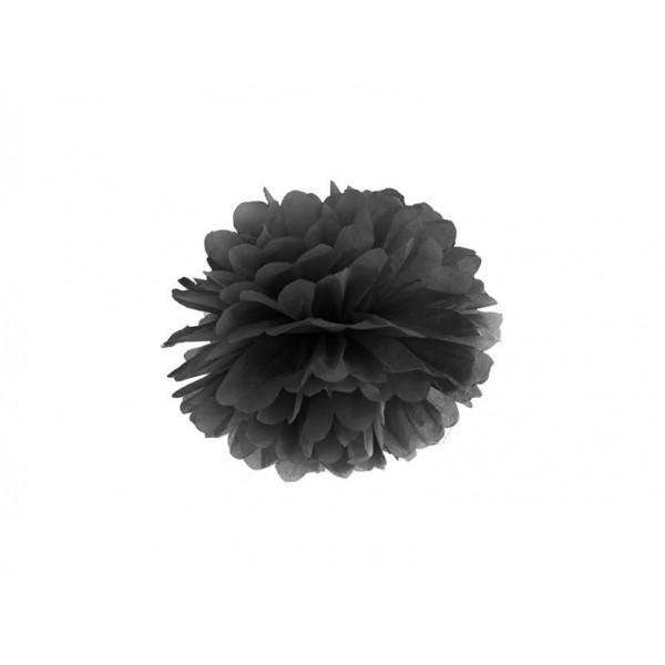 Pompon bibułowy 25 cm czarny