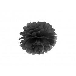 Pompon bibułowy 35 cm czarny
