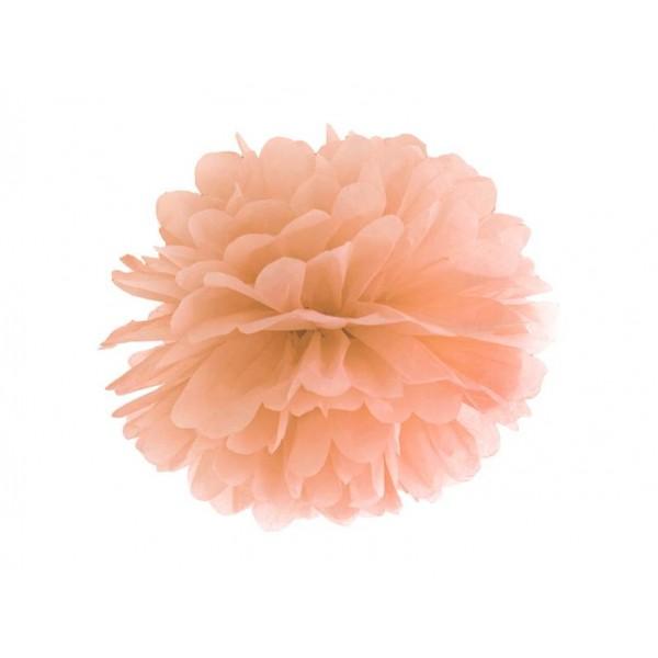 Pompon bibułowy 25 cm jasna brzoskwinia
