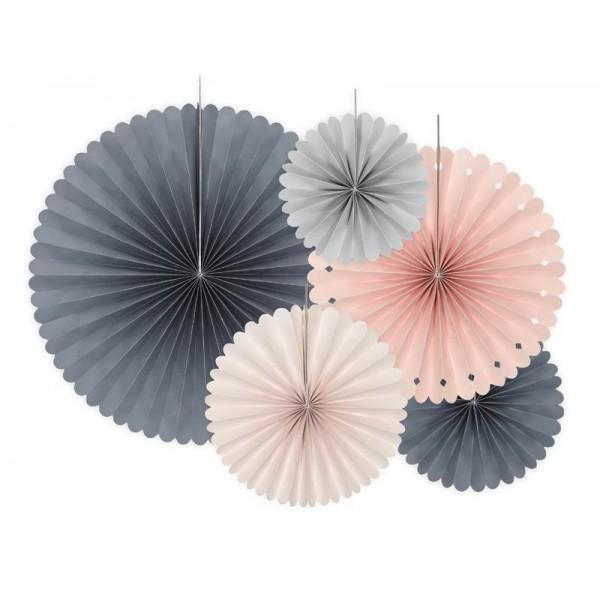 Rozety papierowe Elegant 5szt