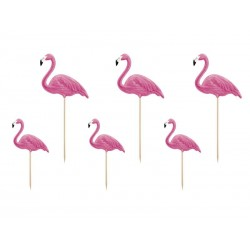 Topper na tort Aloha Flamingi
