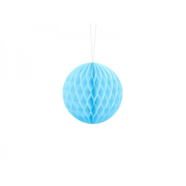 Kula bibułowa błękitna 10cm